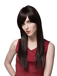 extra de qualidade superior longo fio de cabelo humano em linha reta 23 polegadas sem tampa