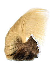 """cheap -14""""-24"""" Ombre Tape in Human Hair Extensions 4/613 Ombre PU Skin Weft Hair Extension 2.5g/pc"""
