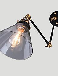 Недорогие -Деревенский стиль Подголовники Назначение Металл настенный светильник Max 60WW