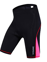 cheap -WOSAWE Women's Cycling Padded Shorts Bike Shorts / Bottoms Quick Dry, Windproof, Breathable Stripe, Classic Polyester, Spandex Black /