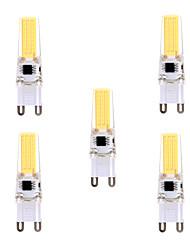 G9 Luci LED Bi-pin T 1 leds COB Oscurabile Decorativo Bianco caldo Luce fredda 400-500lm 2800-3200/6000-6500K AC 220-240 AC 110-130V