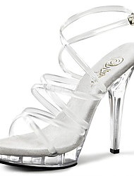 13CM Women's Heels Transparent Summer / Fall Heels / Sandals / Wedding / Party & Evening / Casual Stiletto Heel Crystal Heel / Clear