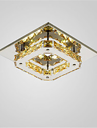 12W Crystal LED Hallway Ceiling Light Stair Lighting Restaurant Flush Mount Stainless Steel