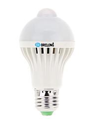 cheap -7W E26/E27 LED Globe Bulbs A60(A19) 16 SMD 5730 600 lm Cold White K Sensor Decorative AC 220-240 V