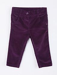 preiswerte -Mädchen Hose-Lässig/Alltäglich einfarbig Baumwolle Herbst Lila