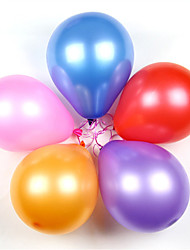 10-inch Thick Round Pearl Balloons Latex Balloons(100Pcs)