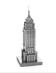 Недорогие -3D пазлы Наборы для моделирования Игрушки Знаменитое здание Здание Empire State Своими руками Металл Мальчики Девочки 1 Куски