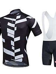 povoljno -Fastcute Muškarci Kratkih rukava Biciklistička majica s kratkim tregericama - Crn Bicikl Kompleti odjeće, Quick dry, Prozračnost Coolmax®