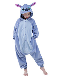 cheap -Kigurumi Pajamas Blue Monster / Monster Onesie Pajamas Costume Polar Fleece Blue Cosplay For Kid's Animal Sleepwear Cartoon Halloween