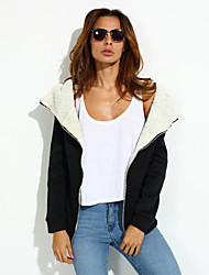 cheap -Women's Street chic Coat-Solid Color,Sporty