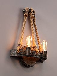 cheap -Vintage Industrial Style Hemp Rope Wall Light Metal Bedroom / Dining Room / Kitchen  Game Room