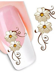 1pcs  Flowers Nail Watermark Stickers