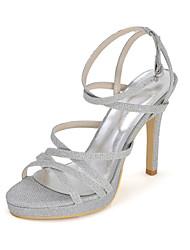 cheap -Women's Shoes Glitter Spring / Summer / Fall Sandals Stiletto Heel Sparkling Glitter Red / Blue / Golden / Wedding / Party & Evening / Party & Evening