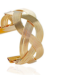 cheap -Women's Cuff Bracelet - Fashion Tube Silver Golden Bracelet For