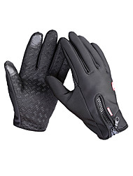 cheap -Bike Gloves / Cycling Gloves Ski Gloves Men's Full-finger Gloves Keep Warm Anti-skidding Canvas Fleece Ski / Snowboard