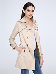cheap -Women's Chic & Modern Coat - Solid Colored, Classic