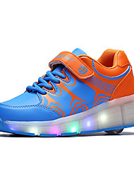 cheap -Girls' Shoes PU(Polyurethane) Spring / Summer / Fall Roller Skate Shoes / Light Up Shoes Sneakers Walking Shoes Platform Buckle Black / Blue / Pink