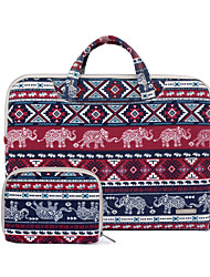 11.6 13.3 15.4 Inch Baby Elephant Canvas Fabric Laptop Handbag for Macbook/Dell/Hp/Sony/Surface/Ausa/Acer/Samsun,etc