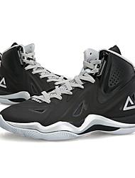Baskets Chaussures de Basketball Homme Antidérapant Anti-Shake Vestimentaire Respirable Terrain Sec Hautes Cuir Nubuck Basket-ball