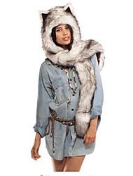 cheap -Unisex Acrylic Floppy Hat, Fashionable Jewelry Animal Print Winter Fall White Black Gray Brown Camel