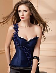 Damen Brustkorsett Nachtwäsche,Sexy / Push-Up einfarbig-Polyester / Elasthan Mittelmäßig Weiß / Blau / Rote / Schwarz Damen