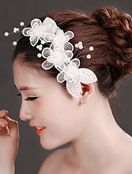 White Lace Flower Headband Hair Barrette for Wedding Party Hair Jewelry