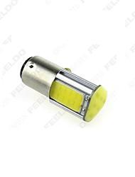 10 pz 1157 4cob 1156ba15s 42smd Indicatore di direzione, di backup DC12V luce bianca
