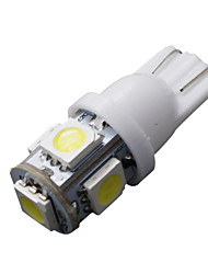cheap -10 PCS T10 White 168 194 501 W5W 5 SMD LED Car Side Wedge Light Lamp Bulb DC 12V