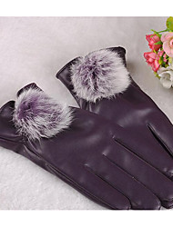 touch screen pieno inverno caldo guanti ciclismo moto protezione solare di fitness palla coniglio signora