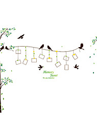 cheap -Botanical Wall Stickers Birds Wall Stickers Decorative Wall Stickers Photo Stickers,PVC Material Removable Wall Decals