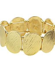 cheap -Women's Strand Bracelet Adjustable Alloy Round Jewelry Party Daily Costume Jewelry Golden