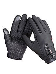 Cycling Gloves/Bike Gloves Ski Gloves Touch Gloves Men's Women's Full-finger Gloves Keep Warm Waterproof Windproof Anti-skidding Canvas