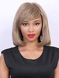Mode Medium bob Stil Haar gerade Seite bang capless Frauenmenschenhaarperücke
