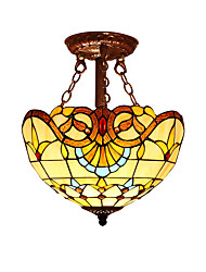 Baroque style with 2 Lights For Tiffany Half pendant lamp High Quality