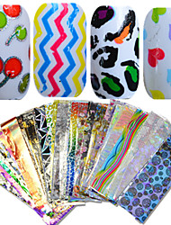 cheap -1Set 50pcs 20*4cm Nail Art Mixed Colorful Image Beautiful Foil Transfer Stickers DIY Beauty NJ207