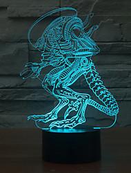 preiswerte -ungewöhnliche Person Touch Dimmen 3D führte Nachtlicht 7colorful Dekoration Atmosphäre Lampe Neuheit Beleuchtung Licht