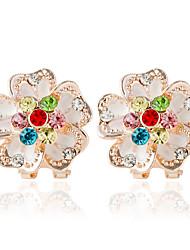 preiswerte -Damen Ohrstecker / Tropfen-Ohrringe - Blume Modisch Regenbogen Für Hochzeit