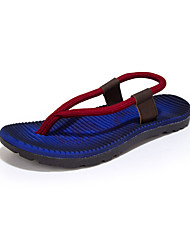 cheap -Men's Slippers & Flip-Flops Linen Summer Casual Braided Strap Flat Heel Ruby Khaki Royal Blue Flat