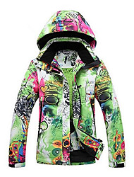 cheap -GQY® Women's Ski Jacket Thermal / Warm Windproof Wearable Ski / Snowboard Winter Sports Polyester