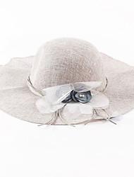Žena Len Vintage / Na běžné nošení Jaro / Léto Sluneční klobouk