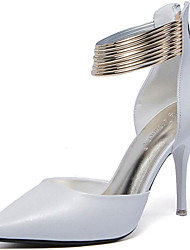 Women's Heels Spring /Summer/Fall/Winter Heels Synthetic Party & Evening / Casual Stiletto Heel Chain Black/White