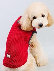 economico -Gatto Cane Maglioni Gilè Abbigliamento per cani Tinta unita Rosso Blu Cotone Costume Per animali domestici Per uomo Per donna Casual