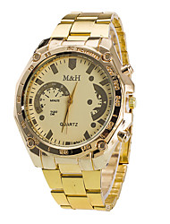 Men's Dress Watch / Quartz Alloy Band Casual Gold