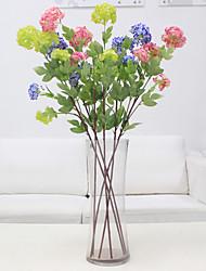1 1 Une succursale Polyester / Plastique Hortensias Arbre de Noël Fleurs artificielles 35.4inch/90cm
