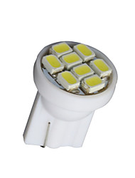 cheap -10 X White T10 8-SMD 3020 LED Wedge Side Light bulb Lamp W5W 194 168 501 12V