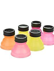 cheap -Set of 6 Creative Soda Savers Toppers Reusable Bottle Caps Can Convert(Ramdon Color)