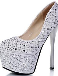 preiswerte -Damen Schuhe Glanz Sommer Herbst Gladiator Pumps High Heels Tassel(n) Für Kleid Party & Festivität Schwarz Silber