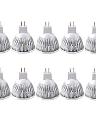 cheap -10pcs 3W 250-300 lm GU5.3(MR16) LED Spotlight MR16 1 leds COB Warm White Cold White 12V