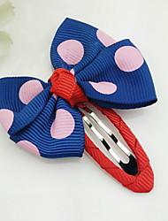 Flower Girl's Bow  Fabric Random Color Hair Clip