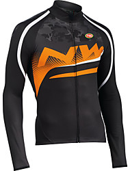 Sports Bike/Cycling Tops Men's Long Sleeve Breathable / Front Zipper / Wearable / Ultra Light Fabric